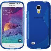 Silikonhülle für Samsung Galaxy S4 Mini Plus I9195 S-Style blau