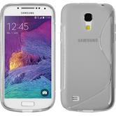 Silikon Hülle Galaxy S4 Mini Plus I9195 S-Style clear + 2 Schutzfolien