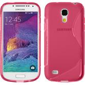 Silikon Hülle Galaxy S4 Mini Plus I9195 S-Style pink