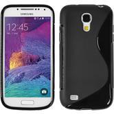 Silikon Hülle Galaxy S4 Mini Plus I9195 S-Style schwarz