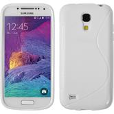 Silikon Hülle Galaxy S4 Mini Plus I9195 S-Style weiß