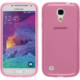 Silikon Hülle Galaxy S4 Mini Plus I9195 transparent rosa