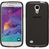 Silikonhülle für Samsung Galaxy S4 Mini Plus I9195 transparent schwarz