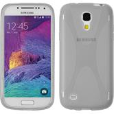 Silikon Hülle Galaxy S4 Mini Plus I9195 X-Style clear + 2 Schutzfolien