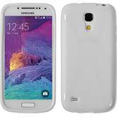Silikon Hülle Galaxy S4 Mini Plus I9195 X-Style weiß + 2 Schutzfolien