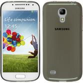 Silikon Hülle Galaxy S4 Mini Slimcase grau + 2 Schutzfolien
