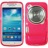 Silicone Case for Samsung Galaxy S4 Zoom matt hot pink