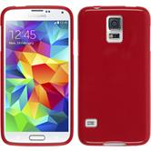 Silicone Case for Samsung Galaxy S5 Candy red