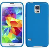 Silikon Hülle Galaxy S5 matt blau