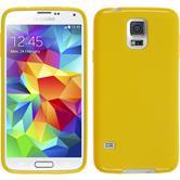 Silikon Hülle Galaxy S5 matt gelb