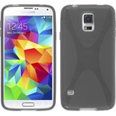 Silicone Case for Samsung Galaxy S5 X-Style gray