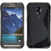 Silikon Hülle Galaxy S5 Active S-Style grau