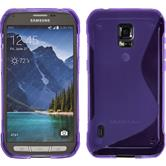 Silikon Hülle Galaxy S5 Active S-Style lila Case