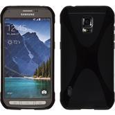 Silikonhülle für Samsung Galaxy S5 Active X-Style schwarz