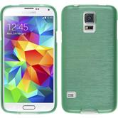 Silikon Hülle Galaxy S5 mini brushed grün Case