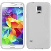 Silikon Hülle Galaxy S5 mini S-Style weiß