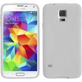 Silikon Hülle Galaxy S5 mini X-Style weiß + 2 Schutzfolien