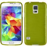 Silikon Hülle Galaxy S5 Neo brushed pastellgrün + 2 Schutzfolien