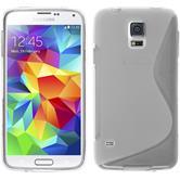 Silikon Hülle Galaxy S5 S-Style clear + 2 Schutzfolien