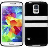 Silicone Case for Samsung Galaxy S5 Stripes black