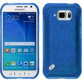 Silikonhülle für Samsung Galaxy S6 Active S-Style blau