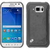 Silikonhülle für Samsung Galaxy S6 Active S-Style grau