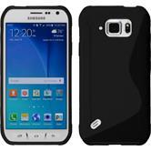 Silikonhülle für Samsung Galaxy S6 Active S-Style schwarz