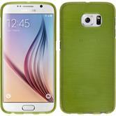 Silikon Hülle Galaxy S6 brushed pastellgrün + 2 Schutzfolien