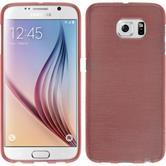 Silikonhülle für Samsung Galaxy S6 brushed rosa
