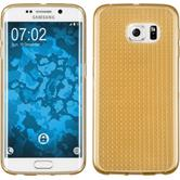 Silikon Hülle Galaxy S6 Edge Iced gold + flexible Folie