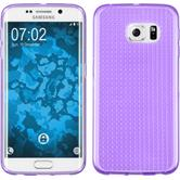 Silikon Hülle Galaxy S6 Edge Iced lila + flexible Folie