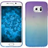 Silikon Hülle Galaxy S6 Edge Ombrè Design:04 + flexible Folie