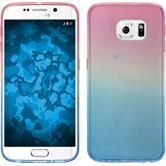 Silikon Hülle Galaxy S6 Edge Ombrè Design:06 + flexible Folie