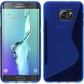 Silikon Hülle Galaxy S6 Edge Plus S-Style blau