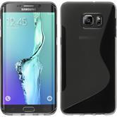Silikon Hülle Galaxy S6 Edge Plus S-Style grau
