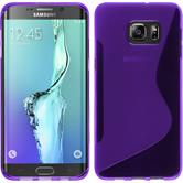 Silikonhülle für Samsung Galaxy S6 Edge Plus S-Style lila