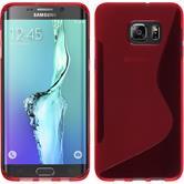 Silikon Hülle Galaxy S6 Edge Plus S-Style rot Case