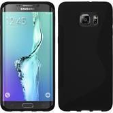 Silikon Hülle Galaxy S6 Edge Plus S-Style schwarz Case
