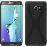 Silikon Hülle Galaxy S6 Edge Plus X-Style grau Case