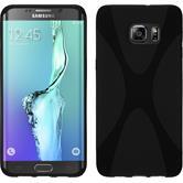 Silikon Hülle Galaxy S6 Edge Plus X-Style schwarz Case