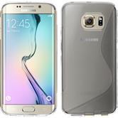 Silikon Hülle Galaxy S6 Edge S-Style clear + flexible Folie