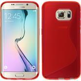 Silikon Hülle Galaxy S6 Edge S-Style rot