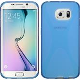 Silicone Case for Samsung Galaxy S6 Edge X-Style blue