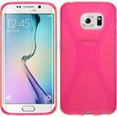 Silikon Hülle Galaxy S6 Edge X-Style pink + flexible Folie