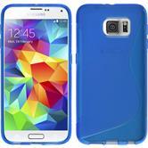 Silikonhülle für Samsung Galaxy S6 S-Style blau