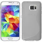 Silikon Hülle Galaxy S6 S-Style clear + 2 Schutzfolien