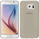 Silikon Hülle Galaxy S6 Slimcase grau + 2 Schutzfolien