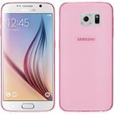 Silikon Hülle Galaxy S6 Slimcase rosa + 2 Schutzfolien