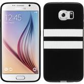 Silikon Hülle Galaxy S6 Stripes schwarz