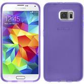 Silikonhülle für Samsung Galaxy S6 transparent lila